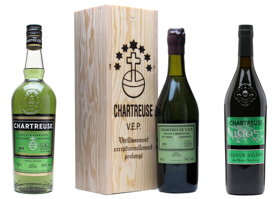 Chartreuses vertes: verte, verte VEP, verte 1605